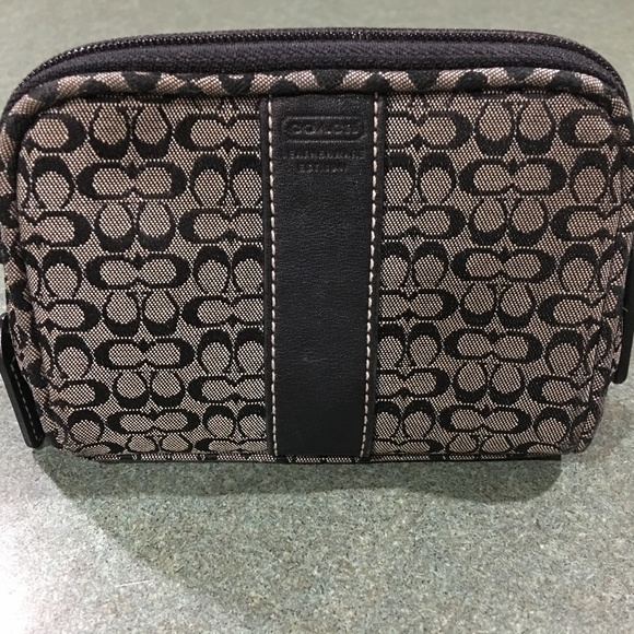 Coach Handbags - Signature Black Coach Print Make-Up Case
